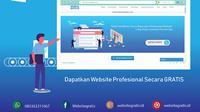 Aplikasi pembuat websitegratis.id dari Mobidu (Liputan6.com/Jayadi Supriadin)