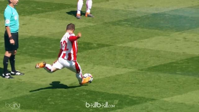 Berita video para pencetak gol terbaik pekan ke-37 Premier League 2017-2018 termasuk yang diciptakan Xherdan Shaqiri. This video presented by BallBall.