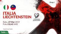 Kualifikasi Piala Eropa 2020 - Italia Vs Liechtenstein (Bola.com/Adreanus Titus)