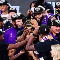 LA Lakers menjuarai NBA 2020, musim terpanjang dalam sejarah. (Douglas P. DeFelice/AFP)