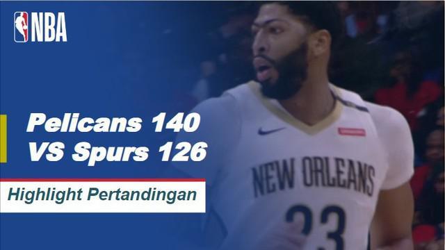 Anthony Davis memimpin Pelikan dengan 29 poin dan 9 rebound dalam kemenangan 140-126 atas Spurs. Julius Randle memposting triple-double untuk New Orleans sementara Demar DeRozan mencetak 21 poin dan 6 rebound untuk San Antonio dalam kekalahan.