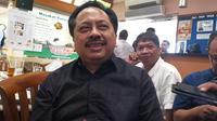 Presiden Direktur Smartfren Telecom, Merza Fachys, saat bertemu rekan media di Jakarta, Selasa (9/4/2019). Liputan6.com/ Andina Librianty