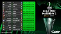 Jadwal dan Live Streaming Liga Konferensi Eropa 2021/2022 Matchday 2 di Vidio. (Sumber : dok. vidio.com