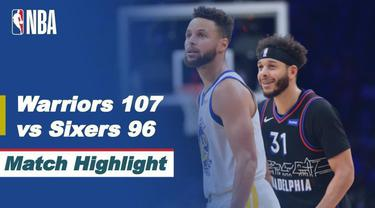 Berita video highlights laga NBA 2020/2021 antara Philadelphia 76ers melawan Golden State Warriors yang berakhir dengan skor 107-96, di mana Stephen Curry mencetak 49 poin dalam pertandingan tersebut, Selasa (20/4/2021) pagi hari WIB.