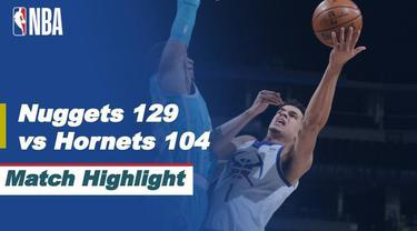 Berita video highlights NBA 2020/2021 antara Denver Nuggets melawan Charlotte Hornets yang berakhir dengan skor 129-104, Kamis (18/3/2021) pagi hari WIB.