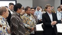 Menkominfo Rudiantara menghadiri pembukaan Apple Developer Academy, di Green Office Park BSD City, Senin (7/5/2018). Liputan6.com/ Pramita Tristiawati