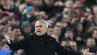 Potret Jose Mourinho pada 16 Desember 2018. (Foto: PAUL ELLIS / AFP)