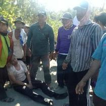 Korban selamat Cessna Jatuh di Indramayu langsung mendapat pertolongan. (Istimewa)