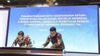 Kemendagri dan BNPP dengan BRI tandatangani MoU kerjasama