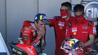 Jack Miller usai balapan MotoGP Jerez 2021 hari Minggu (02/05/2021). (PIERRE-PHILIPPE MARCOU / AFP)
