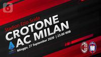 Crotone vs AC Milan (Liputan6.com/Abdillah)
