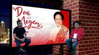 Hari ulang Tahun Ketua Umum PDIP Megawati Soekarnoputri, Sekjen PDIP Hasto Kristiyanto dan Menkumham Yasonna Laoly menjadi MC dadakan dalam acara doa bersama untuk negeri. (Istimewa)