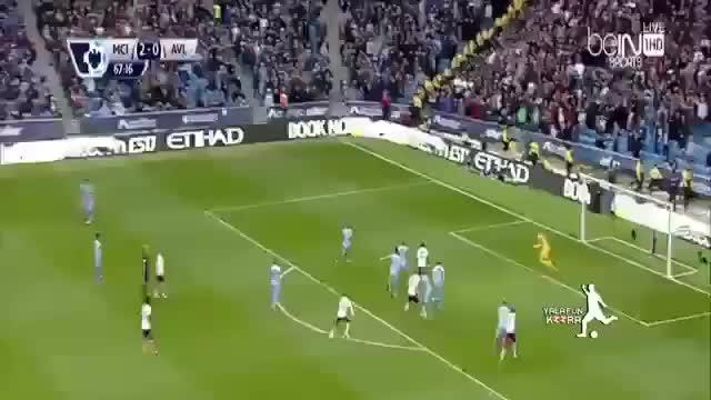 Manchester City berhasil mengalahkan Aston Villa 3-2 dalam pertandingan dramatis yang berlangsung di Etihad, Sabtu (26/4/2015)