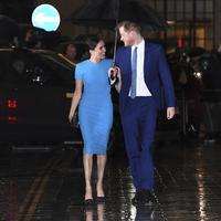 Meghan Markle dan Pangeran Harry menghadiri Endeavour Fund Award di Mansion House London, Kamis malam, 5 Maret 2020. (DANIEL LEAL-OLIVAS / AFP)