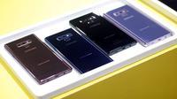 Deretan warna smartphone Galaxy Note 9. Liputan6.com/ Aditya Eka Prawira