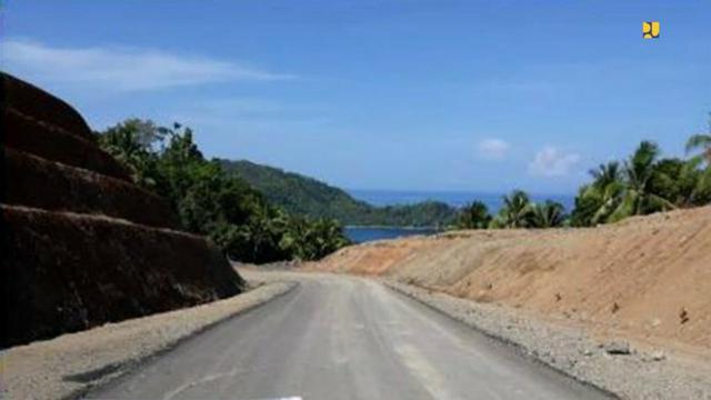 Proyek pembangunan jalan lingkar Morotai