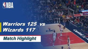 Berita Video Highlights NBA 2019-2020, Golden State Warriors Vs Washington Wizards 125-117