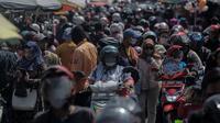 Situasi Pasar Anyar atau Pasar Kebon Kembang, Bogor, jelang lebaran di tengah pandemi Corona. (Liputan6.com/Achmad Sudarno)