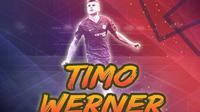 Timo Werner. (Bola.com/Gregah Nurikhsani Estuning)