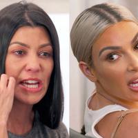 Hubungan Kim Kardashian dan Kourtney Kardashian tak baik di KUWTK. Mereka pun membawa panasnya pertengkaran mereka ke Twitter. (eonline.com)