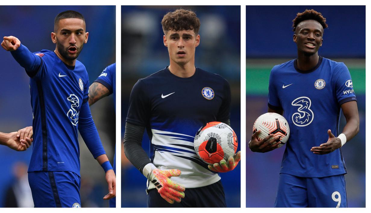 Meski telah menjuarai Liga Champions musim ini, Chelsea diyakini bakal melepas 7 pemain berikut dengan beberapa alasan. Satu alasan pasti, The Blues butuh perombakan. Mereka masih membutuhkan pemain incaran di musim depan dan butuh biaya besar untuk menutupinya. (Kolase Foto AFP)