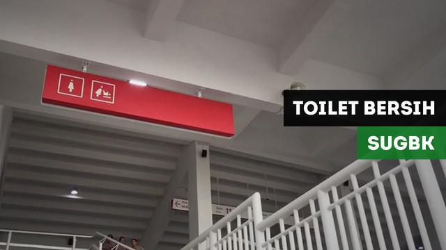 Berita video laporan vlog Bola.com suasana fasilitas toilet umum di kawasan SUGBK jelang final Piala Presiden 2018, Persija Jakarta vs Bali United, di Stadion Utama Gelora Bung Karno, Sabtu (17/2/2018).