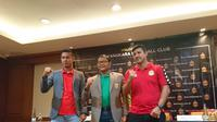 Peresmian Alfredo Vera sebagai pelatih Bhayangkara FC, di Hotel Sultan, Jakarta, Selasa (5/2/2019).