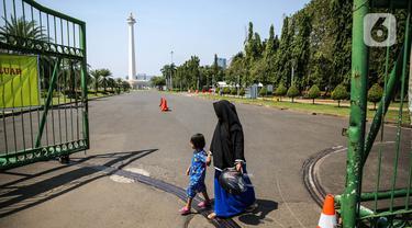 FOTO: Monas Masih Ditutup untuk Umum