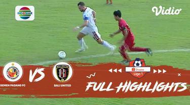 Berita Video Highlights Shopee Liga 1 2019, Semen Padang Vs Bali United 0-2