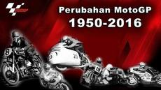 Video perjalanan MotoGP dari tahun 1950 hingga sekarang yang memperlihatkan bentuk motor MotoGP dan para pebalap yang menjadi bintang MotoGP.