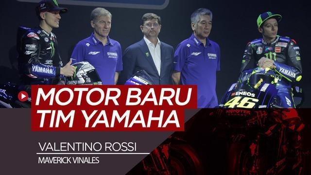 Berita video duo pembalap tim Monster Energy Yamaha, Valentino Rossi dan Maverick Vinales, memperkenalkan motor baru untuk MotoGP musim 2019.