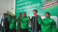 Mitra Aplikator Grab di Pantura Jawa Barat turut berinovasi ditengah maraknya era digital bidang jasa transportasi. Foto (Liputan6.com / Panji Prayitno)