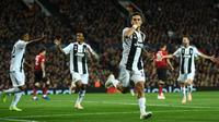 Juventus menghadapi Manchester United pada laga ketiga Grup H Liga Champions, di Old Trafford, Selasa (23/10/2018) malam waktu setempat. (AFP/Oli Scarff)