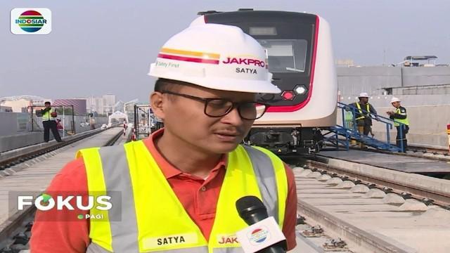 LRT yang terhubung dengan sejumlah venue Asian Games hampir rampung. Bahkan Dirut PT. Jakpro optimis, LRT sudah bisa beroperasi pada bulan Juli mendatang.