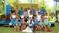 225 anak muda dari Klaten, Sleman, dan Magelang turun tangan untuk menggiatkan ekonomi melalui kegiatan kreatif di Candi Borobudur. (Foto: Liputan6/ Akbar Muhibar)