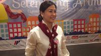 Veronica Tan mengungkapkan tentang kesibukannya terkini saat jumpa pers Operet Aku Anak Rusun di Ciputra Artpreneur, Kuningan, Jakarta Selatan, Rabu, 25 September 2019 (Liputan6.com/Komarudin)