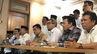 Tim Kampanye Nasional (TKN) Jokowi-Ma'ruf Amin menggelar jumpa pers terkait gugatan kubu 02, Selasa (21/5/2019). (Liputan6.com/ Putu Merta Surya Putra)