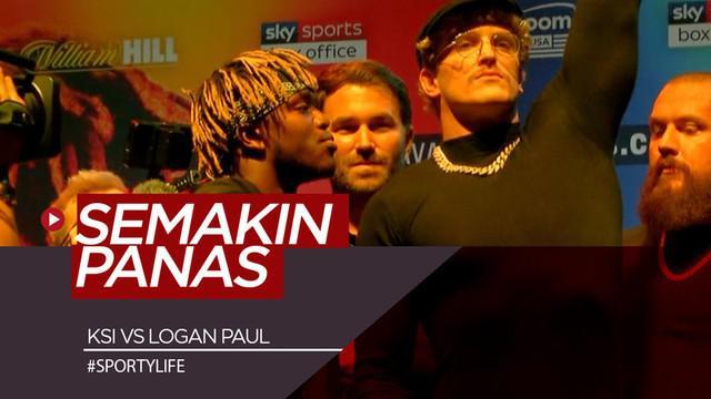 Berita video jelang laga tinju 2 youtuber dunia, KSI vs Logan Paul, yang semakin panas saat sesi face off di London, Inggris, Senin (7/10/2019).