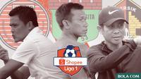 Tiga klub promosi Liga 1 2020: Persiraja, Persita, Persik. (Bola.com/Dody Iryawan)