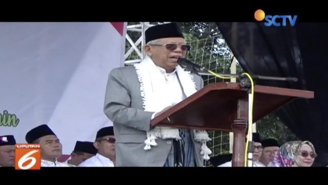 Safari politik di Kabupaten Kuningan, Ma'ruf Amin ajak Nahdliyin sukseskan Pemilu 2019.