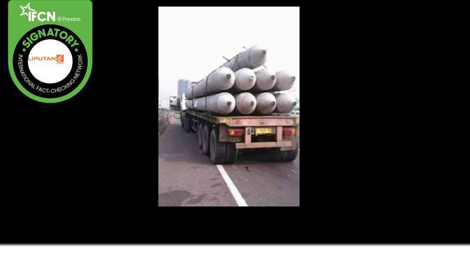 Klaim truk bermuatan rudal/ (Facebook)