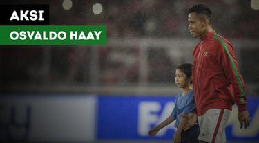 Pemain muda Indonesia, Osvaldo Haay tampil mengesankan saat menghadapi Islandia, Minggu (14/1/2018)