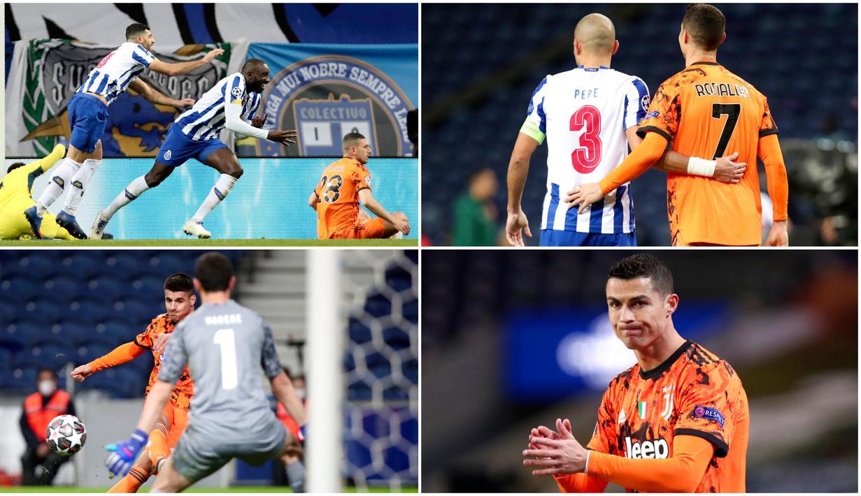 Ada beberapa fakta menarik usai laga FC Porto kontra Juventus pada leg pertama babak 16 besar Liga Champions 2020-2021. Ajang reuni Pepe dan Cristiano Ronaldo merupakan satu dari enam fakta tersebut.