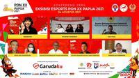 Konferensi Pers Eksibisi eSports PON XX Papua 2021 secara daring oleh PB ESI (Pengurus Besar Esports Indonesia) pada hari Selasa (24/8).