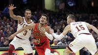 Cavaliers akhirnya mencatatkan kemenangan di laga NBA. (AP Photo/Tony Dejak)