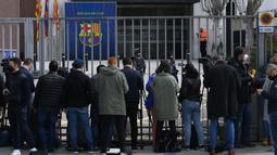 Barcagete adalah istilah yang dikemukakan media lokal Spanyol karena skandal pencucian uang dan usaha Barcelona 'mempercantik' citra klub sekitar Februari tahun lalu. (AFP/Lluis Gene)