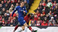 Andreas Christensen mengaku bahagia bersama Chelsea dan tak punya rencana untuk hengkang pada musim panas 2019. (AFP/Paul Ellis)