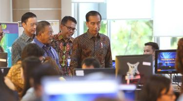 Presiden Jokowi Tinjau Pelayanan OSS di BKPM