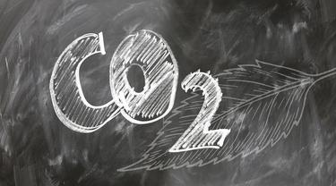Ilustrasi Karbon Dioksida (CO2).