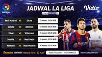 Pertandingan La Liga Spanyol 2020/2021 pekan ke-27 di Vidio dapat disaksikan melalui paltform streaming Vidio. (Dok. Vidio)